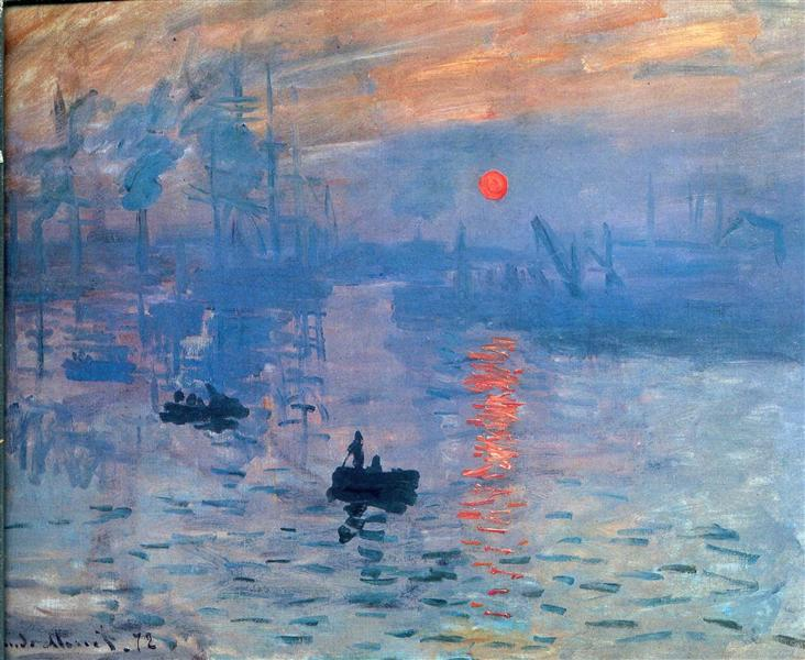 Impression, sunrise, 1873 - Claude Monet