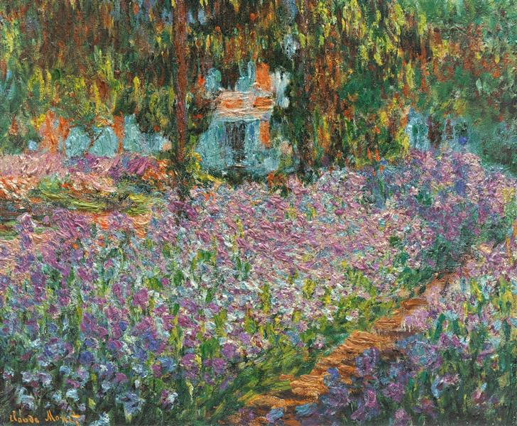 Irises in Monet's Garden - Monet Claude