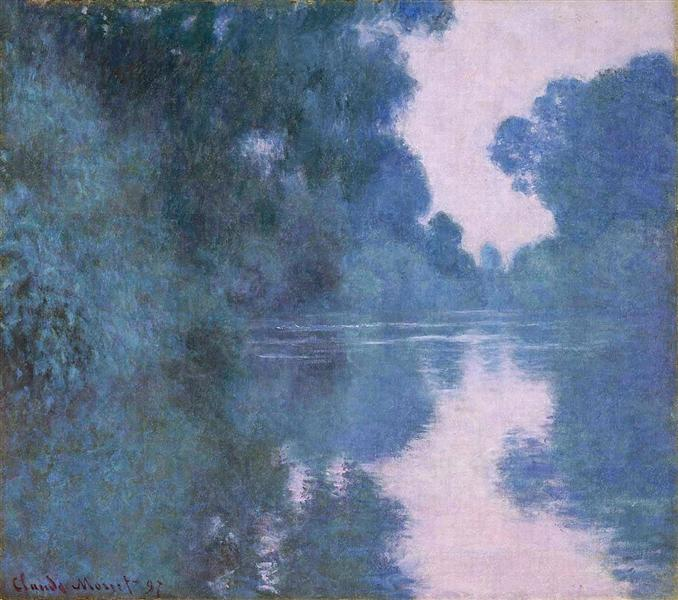 Morning on the Seine near Giverny 02, 1897 - Claude Monet