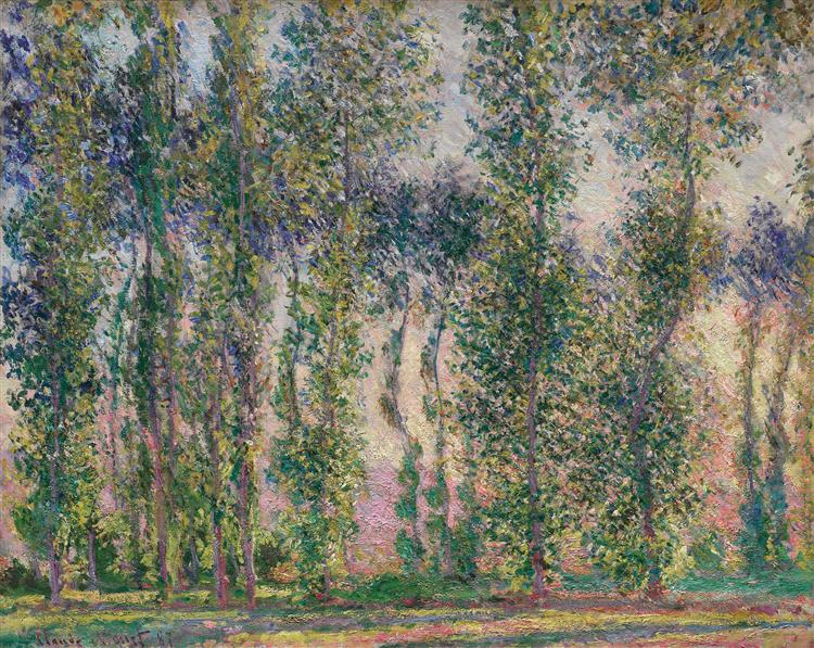 Poplars at Giverny, 1887 - Claude Monet