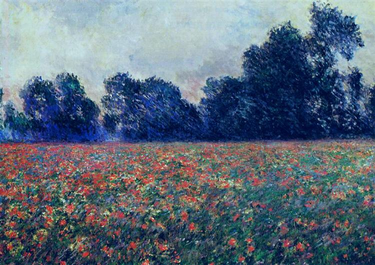Poppies at Giverny, 1887 - Claude Monet