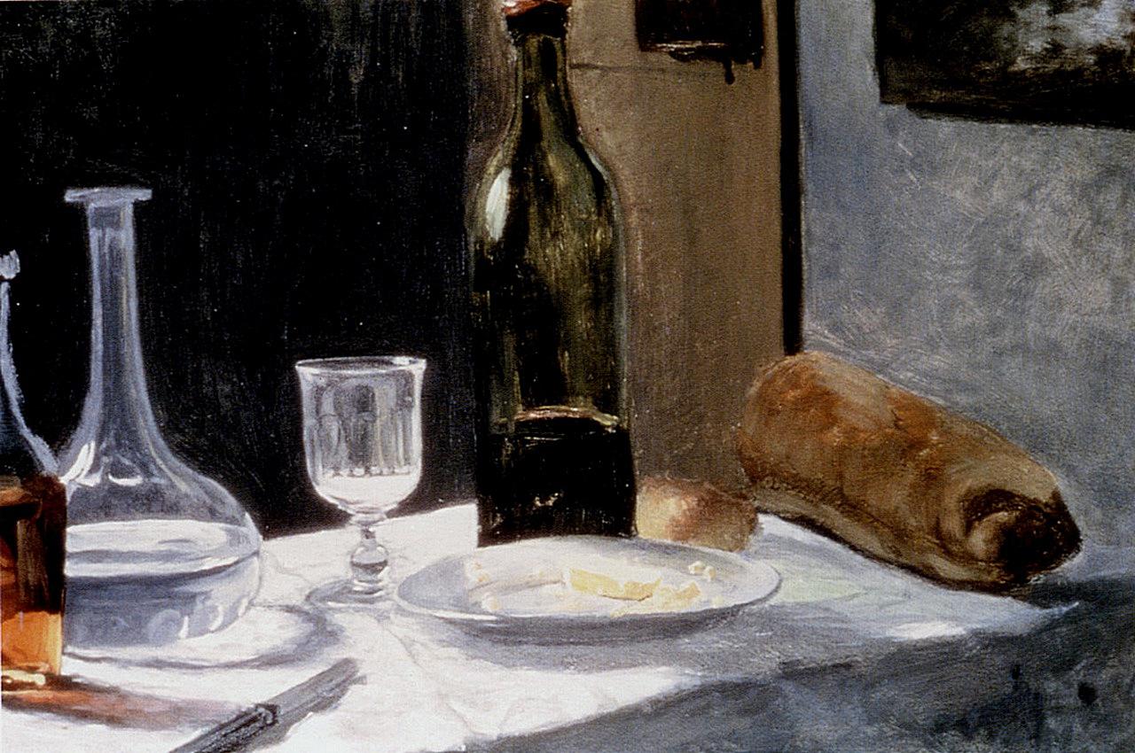 Still Life With Bottles, 1862-1863