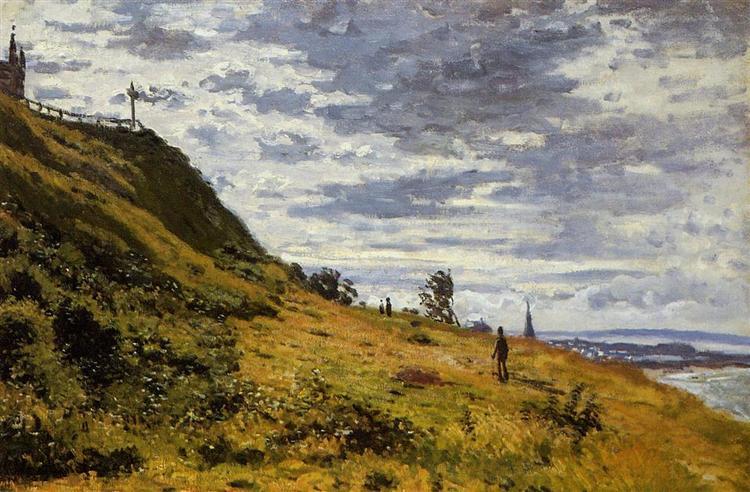 Taking a Walk on the Cliffs of Sainte-Adresse, 1867 - Claude Monet