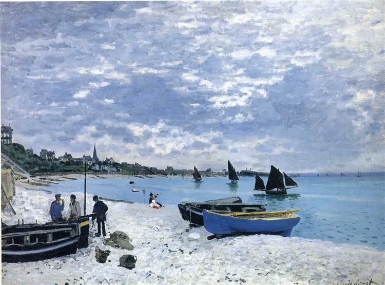 The Beach at Sainte-Adresse, 1867 - Клод Моне