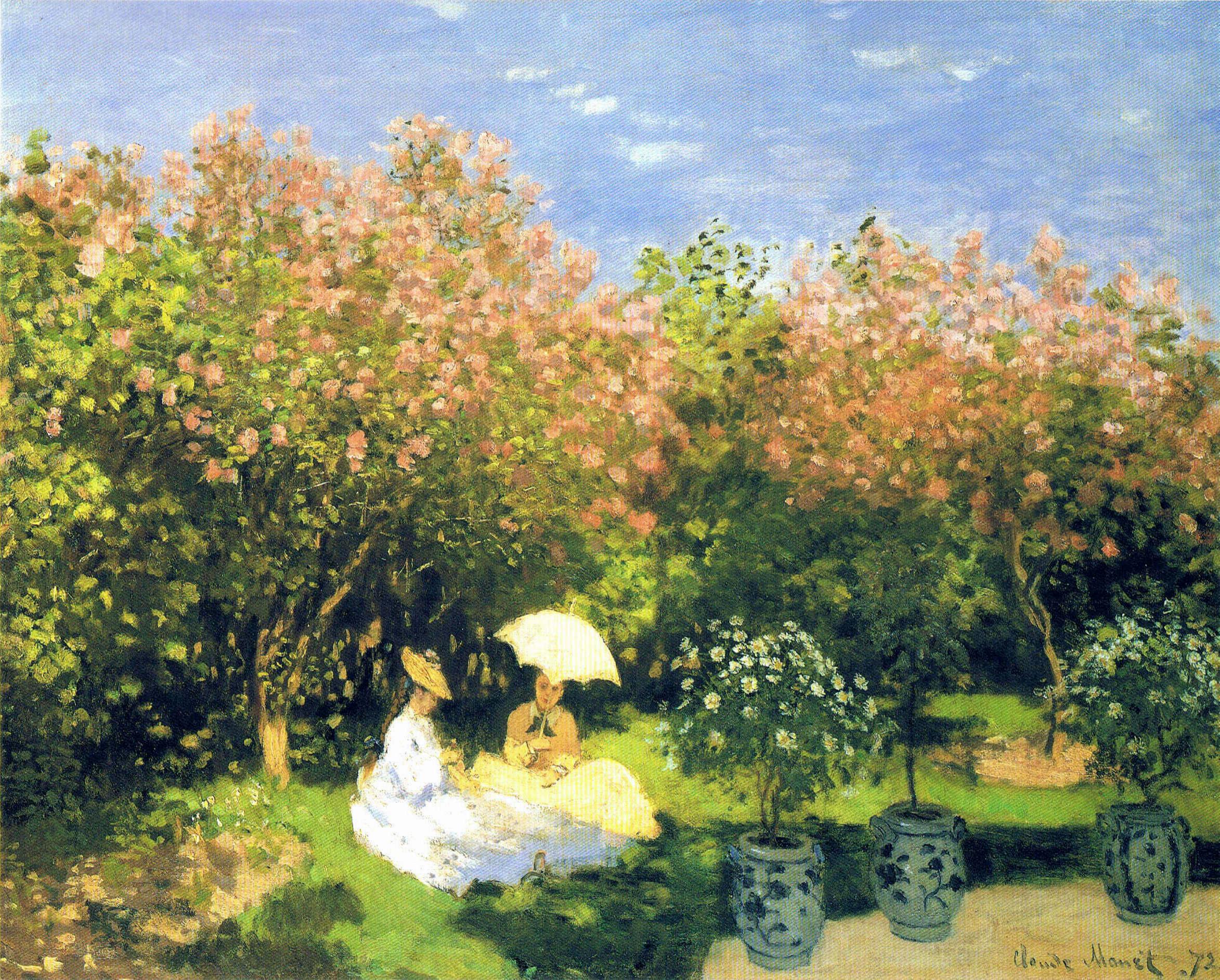 The Garden 1872 Claude Monet WikiArtorg