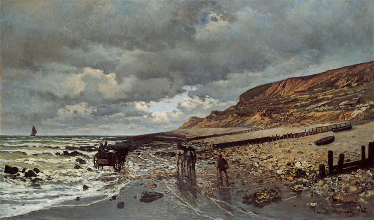The Headland of the Heve at Low Tide, 1865 - Claude Monet