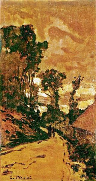 The Road to the Farm of Saint-Simeon - Claude Monet