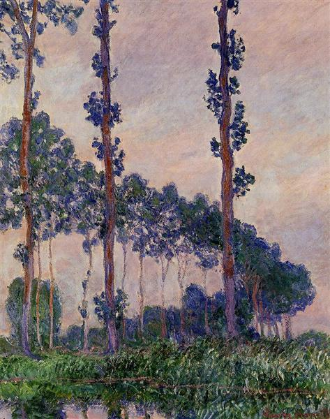 Three Trees in Grey Weather, 1891 - Claude Monet