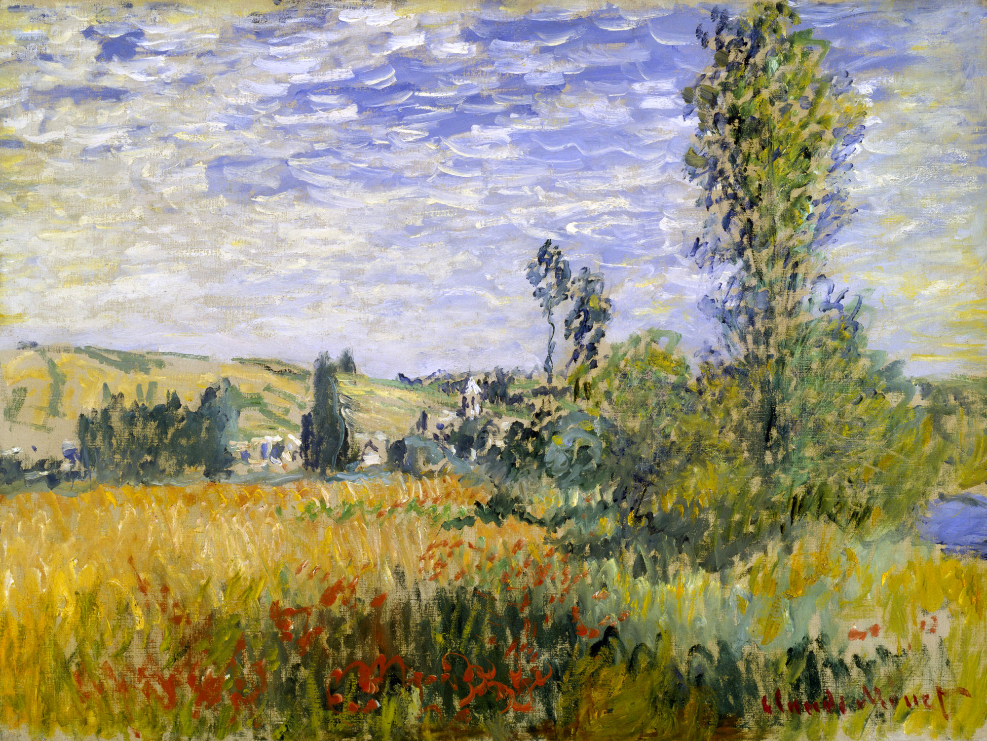 Vetheuil claude monet for Monet paintings images