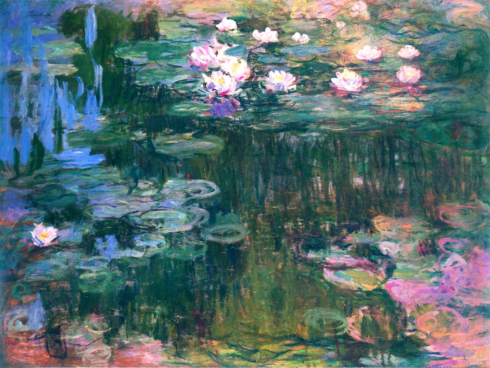 an analysis of the painting water lily pond by claude monet - from 1903, monet started a series of paintings depicting his giverny water.