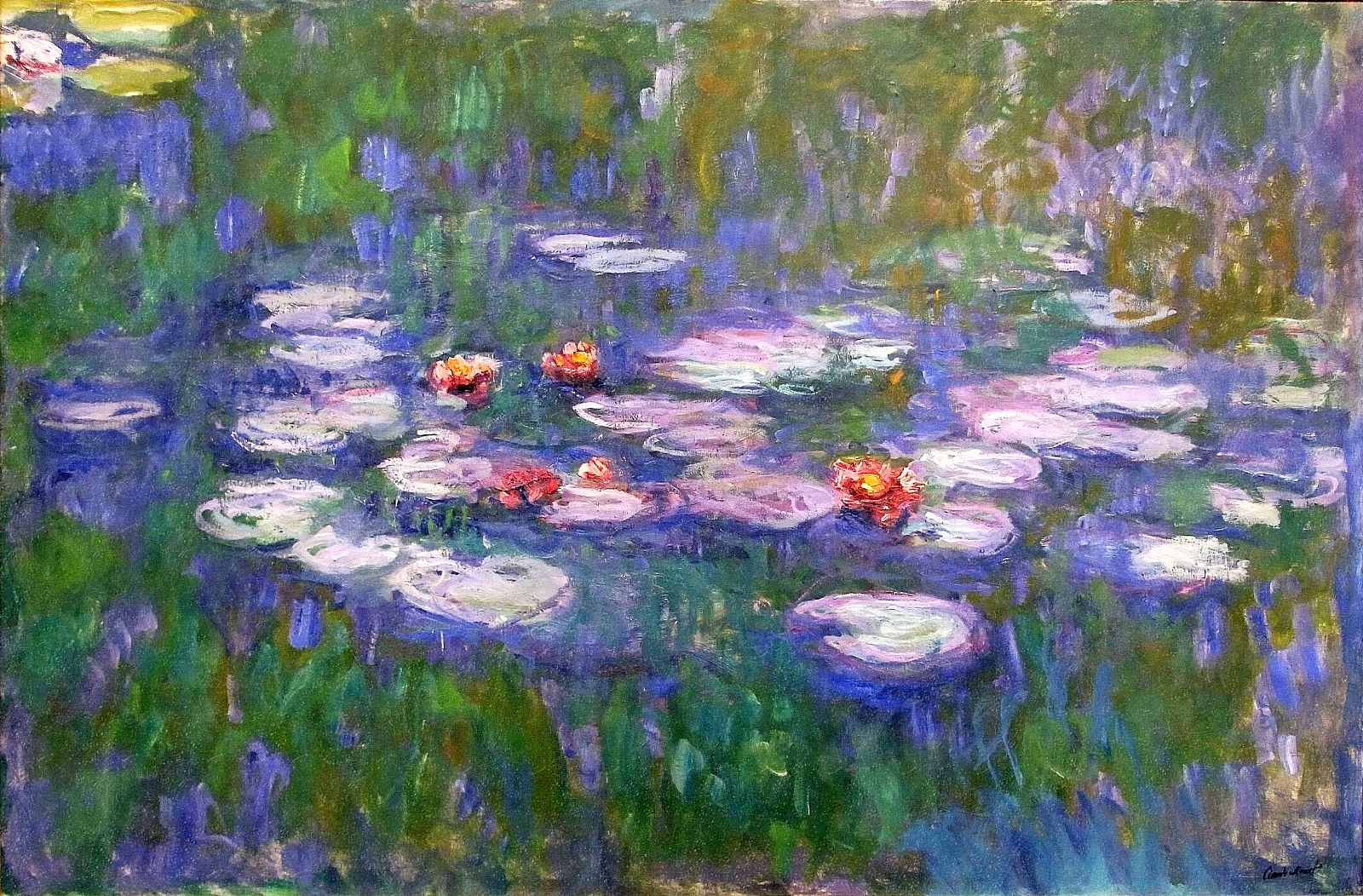 Jamestown elementary art blog first grade claude monet for Monet paintings images