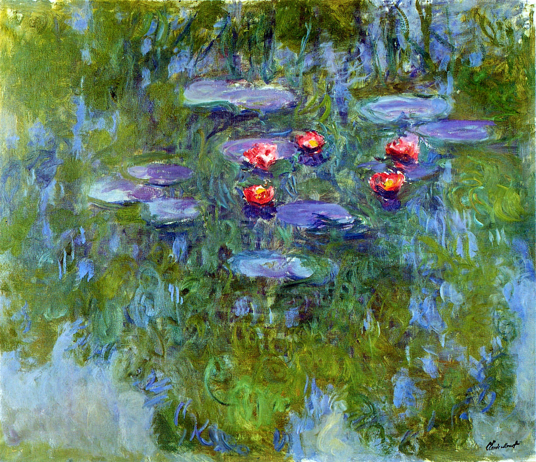 Water lilies claude monet encyclopedia for Claude monet artwork
