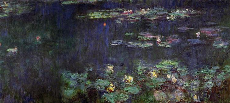 Water Lilies Green Reflection Right Half 1920 1926
