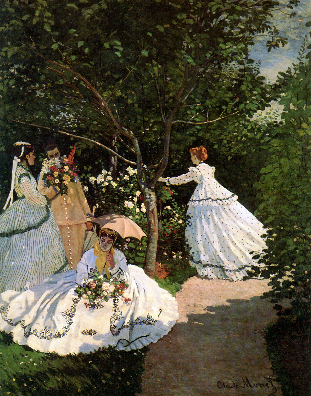 Women in the garden claude monet wikiart org encyclopedia of