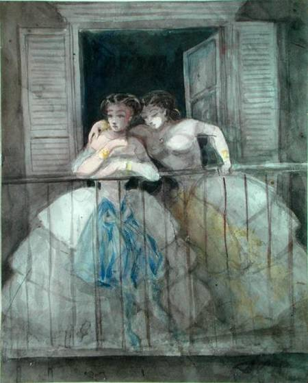 Girls on the Balcony - Constantin Guys