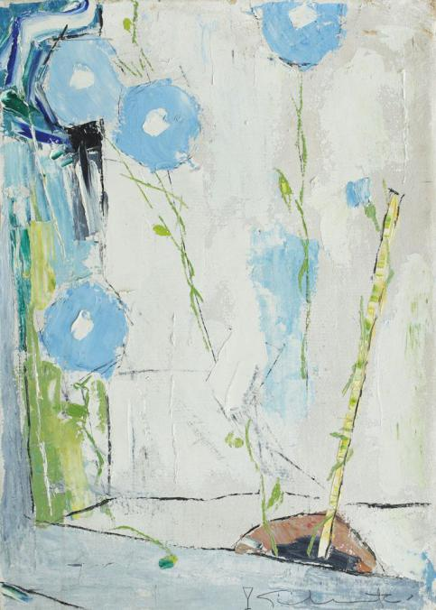 Case with Blue Flowers