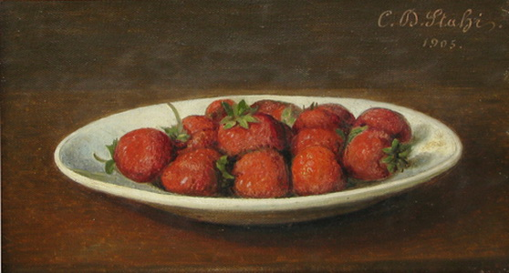 Still Life With Strawberries, 1905 - Constantin Stahi