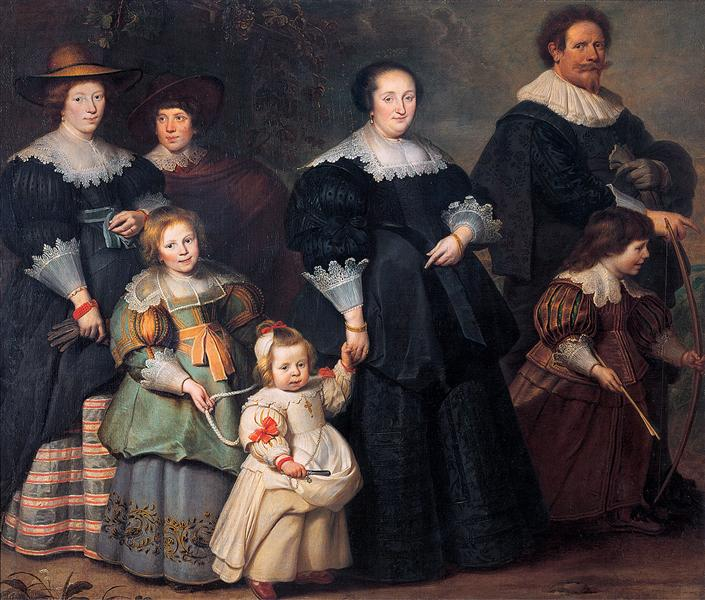 Self-portrait of the Artist with his Wife Suzanne Cock and their Children, c.1630 - Cornelis de Vos