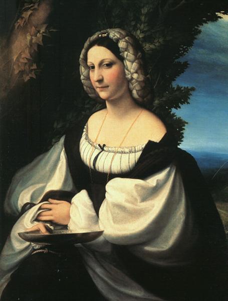 Portrait of a Gentlewoman, 1517 - 1519 - Correggio