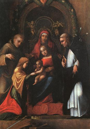 The Mystic Marriage of St. Catherine - Correggio