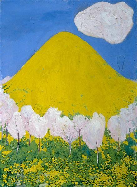 Der gelbe Hügel, 1903 - Cuno Amiet