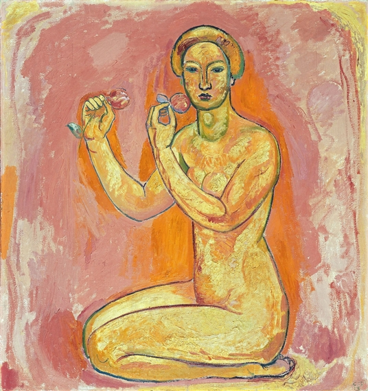 Female Nude with Flowers (The Truth), 1913