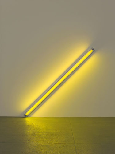 Diagonal of Personal Ecstasy (the Diagonal of May 25, 1963, to Constantin Brancusi), 1963 - Dan Flavin