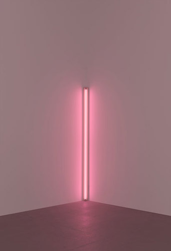 Pink out of corner (to Jasper Johns), 1963 - Dan Flavin