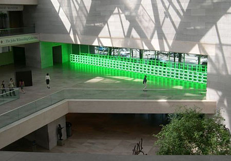 a depiction on untitled to you heiner with admiration and affection by dan flavin Dan flavin untitled (to you, heiner, with admiration and affection), 1973 fla_ untitled (to you, heiner, with admiration and affection)_shot 3_photo bill.
