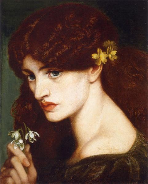 Blanzifiore (Snowdrops), 1880 - Dante Gabriel Rossetti