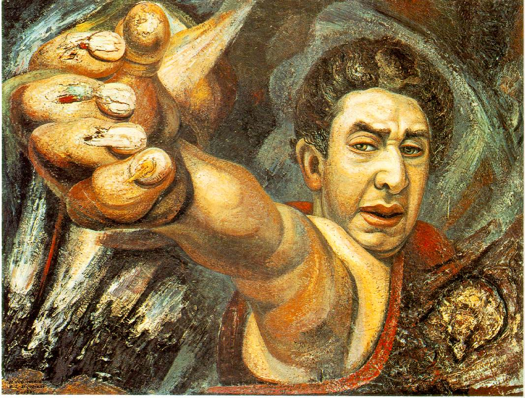 Self portrait 1945 david alfaro siqueiros for Arte mural mexicano