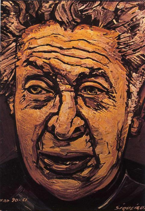 Self portrait 1961 david alfaro siqueiros for El mural de siqueiros