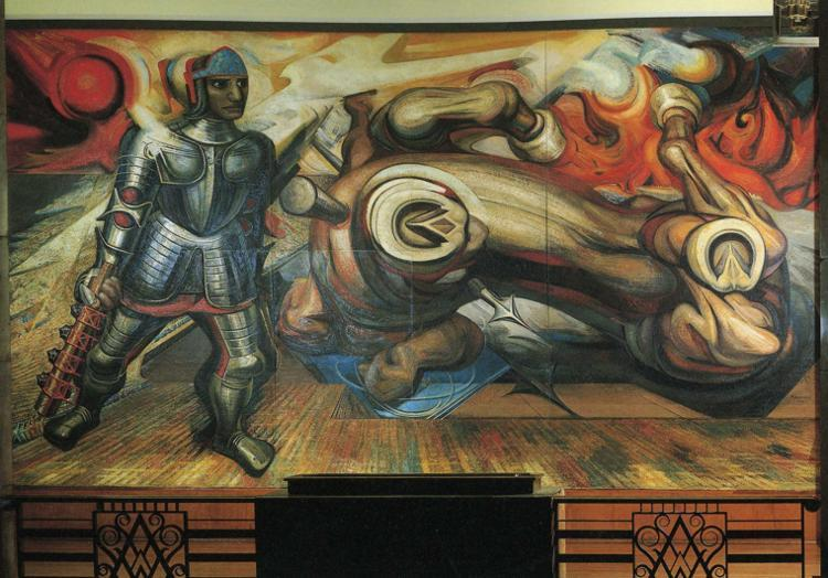 The Resurrection of Cuauhtemoc, 1950 - David Alfaro Siqueiros