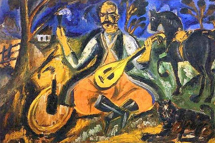 Козак Мамай, 1912 - Давид Бурлюк