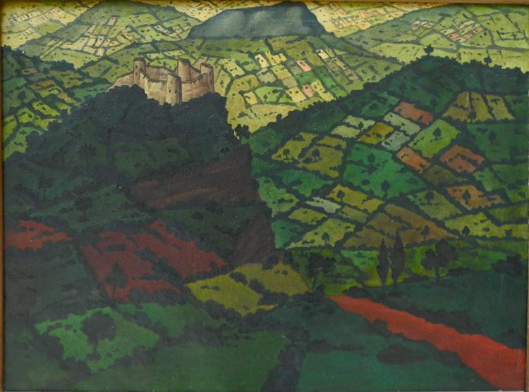 Imereti. Red road, 1918 - David Kakabadze