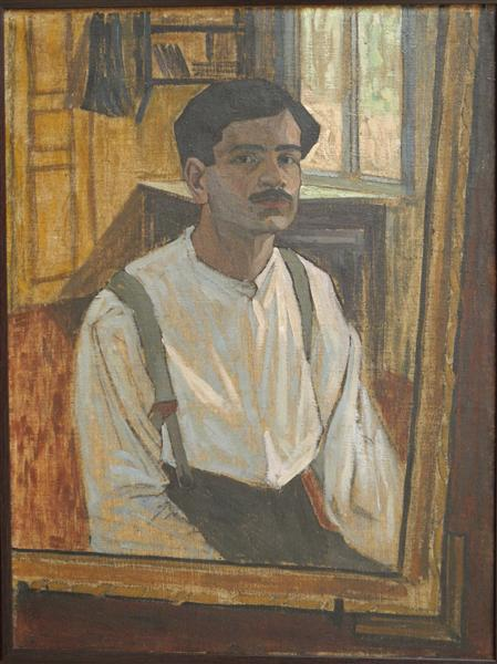 self-portrait, 1913 - David Kakabadze