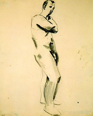 Untitled (Nude Male Figure), 1957 - David Park