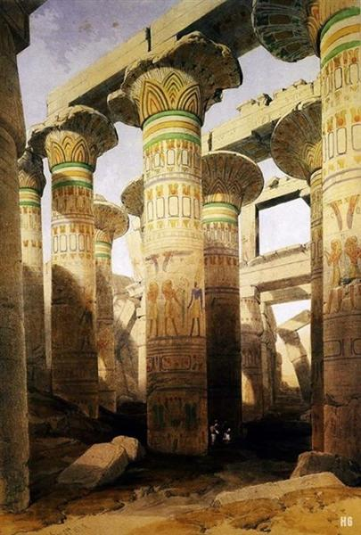 Architecture and Art of the great Temple of Karnak. City of Thebes. Egypt. - David Roberts