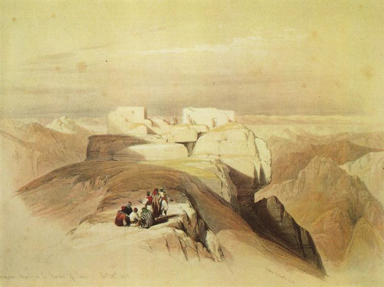 Ascent to the Summit of Mount Sinai - David Roberts