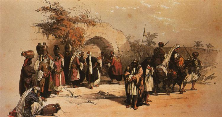 Nazareth. The Fountain of the Virgin - David Roberts