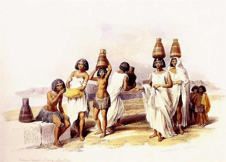 Nubian Women at Korti, 1847 - David Roberts