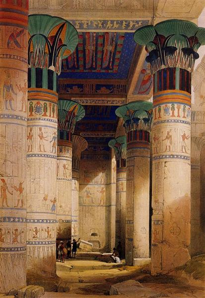 Portico of the Temple of Isis at Philae, 1851 - Дэвид Робертс
