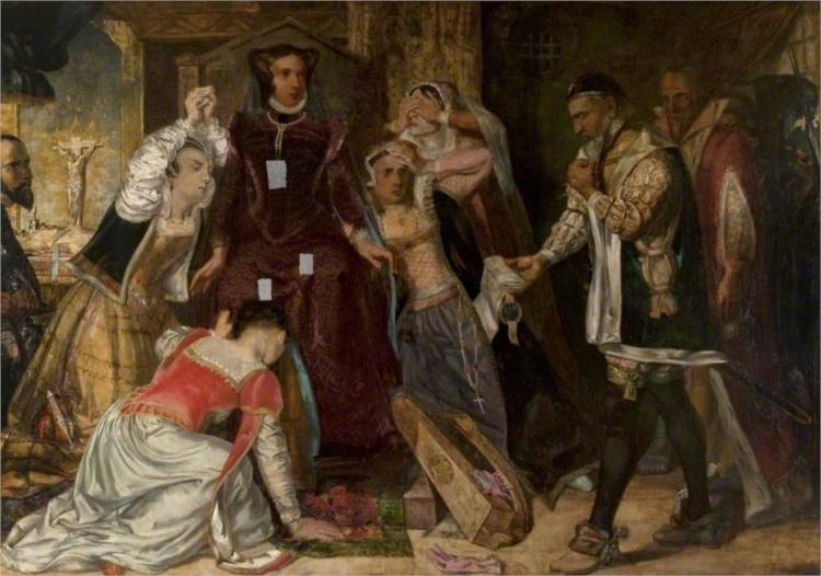 Mary, Queen of Scots, Receiving the Warrant for Her Execution, 1840 - David Scott
