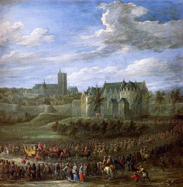Arrival of Christina of Sweden in Brussel - David Teniers the Younger
