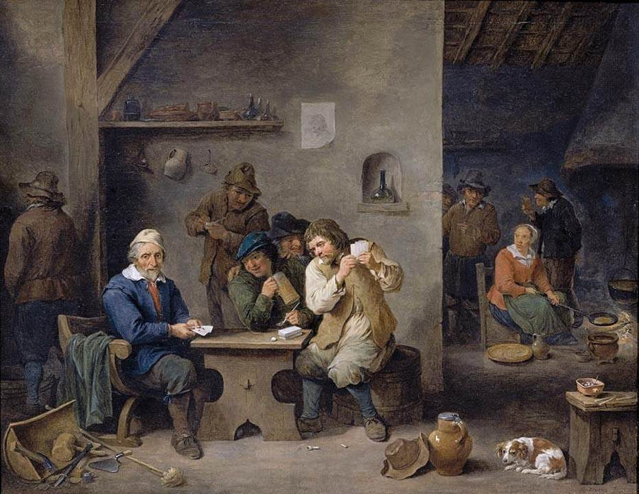 Figures gambling in a tavern 1670 david teniers the for Early house music