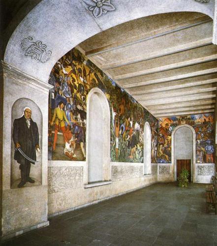 Conquest and Revolution - Diego Rivera