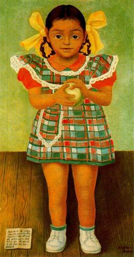Portrait of the Young Girl Elenita Carrillo Flores - Diego Rivera