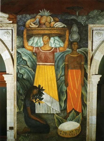 Tehuana Women - Diego Rivera