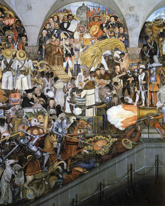 The history of mexico diego rivera for Diego rivera mural 1929