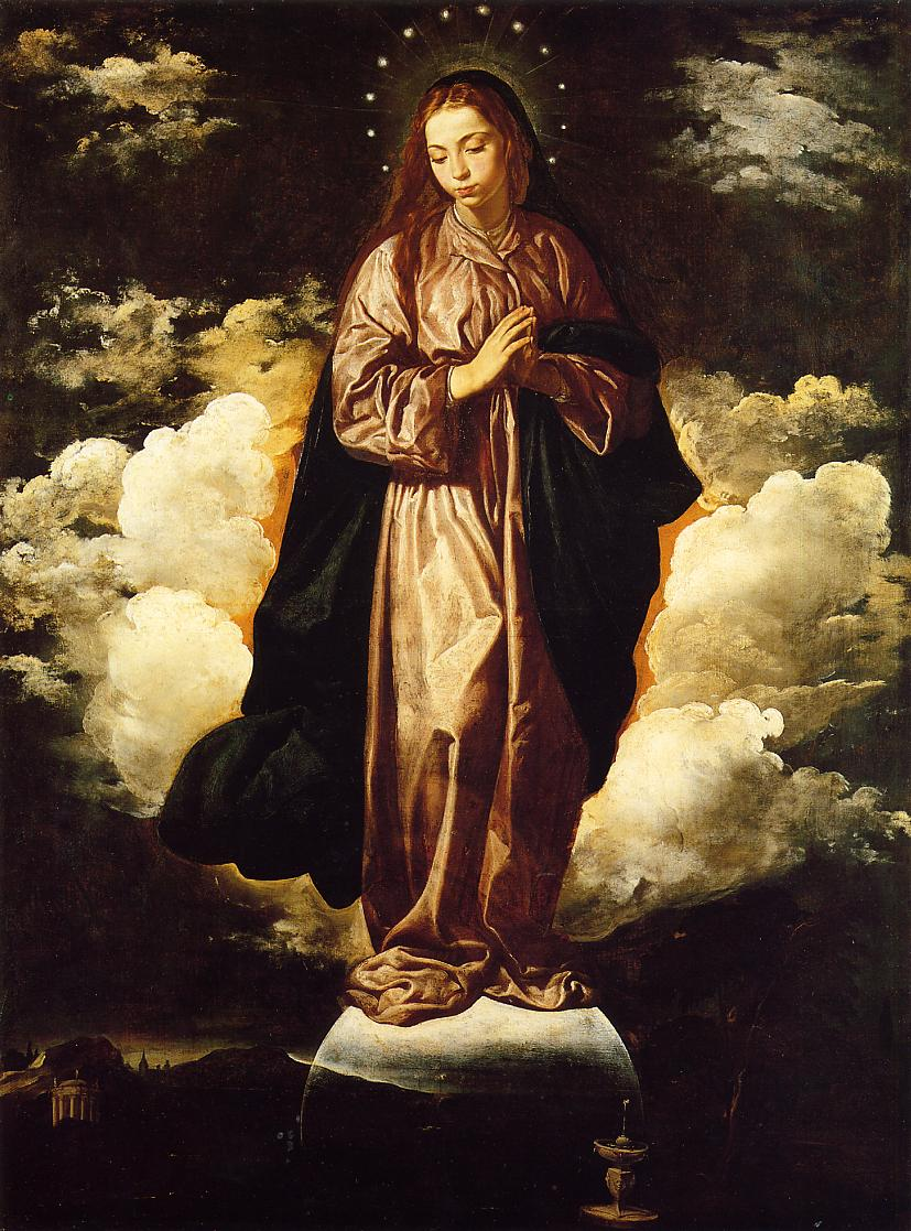The Immaculate Conception, c.1619 - Diego Velazquez ...  The Immaculate ...